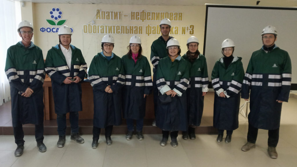 PhosAgro Apatity III processing plant tour group